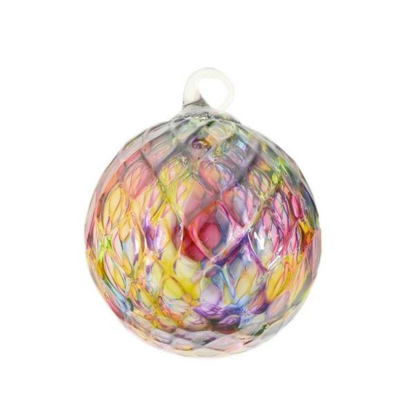 """Glass Eye Studios, """"Ornament (Rainbow Diamond Facet)"""" Hand Blown Glass Sculpture"""
