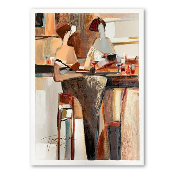 """Yuri Tremler, """"Ladies' Lunch"""" Limited Edition Serigraph, Hand Signed with Letter"""