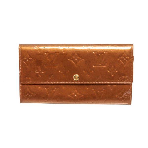 Louis Vuitton Bronze Vernis Leather Sarah Wallet