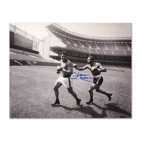 "Must-Have Signed Sports Photo. ""Ken Norton and Ali, Yankee Stadium"" 40"" x 30"" Ha"