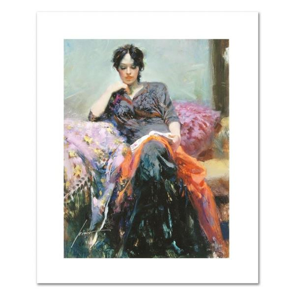 """Pino (1931-2010), """"Her Favorite Book"""" Limited Edition on Canvas, Numbered and Ha"""