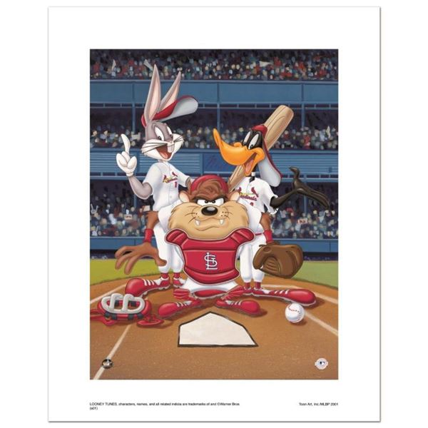 """""""At the Plate (Cardinals)"""" Numbered Limited Edition Giclee from Warner Bros. wit"""