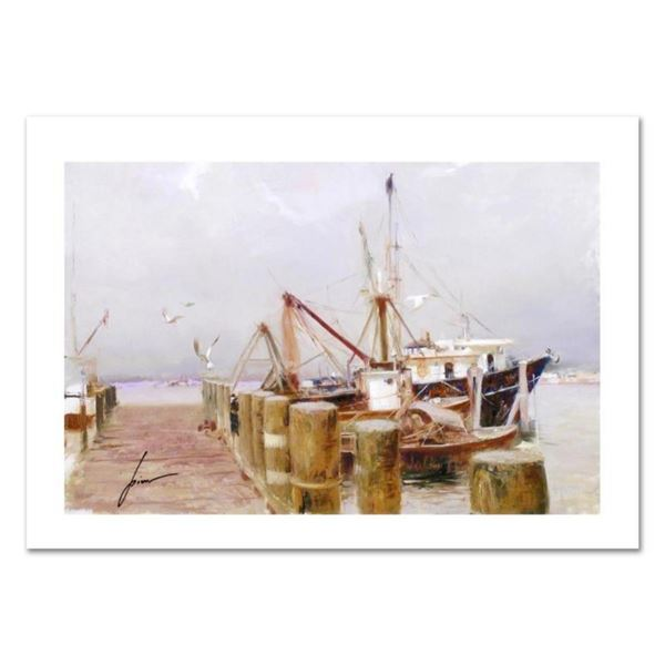 """Pino (1939-2010) """"Safe Harbor"""" Limited Edition Giclee. Numbered and Hand Signed;"""