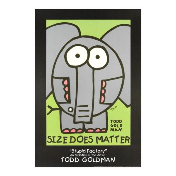 """""""Size Does Matter"""" Collectible Lithograph Hand Signed by Renowned Pop Artist Tod"""