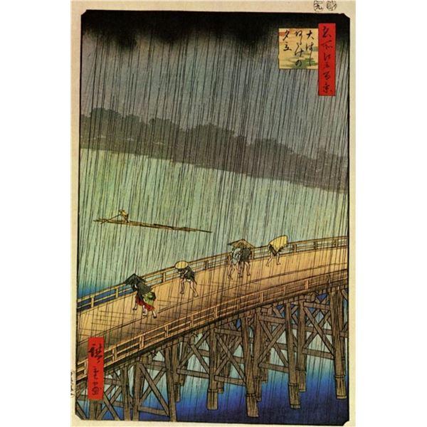 Hiroshige Falling Rain