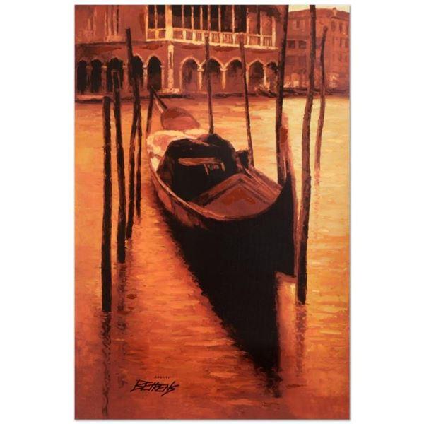 """Howard Behrens (1933-2014), """"Sunset Gondola"""" Limited Edition Hand Embellished Gi"""