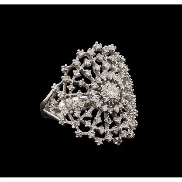 14KT White Gold 0.48 ctw Diamond Ring