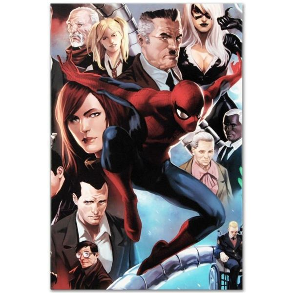 """Marvel Comics """"Amazing Spider-Man #645"""" Numbered Limited Edition Giclee on Canva"""