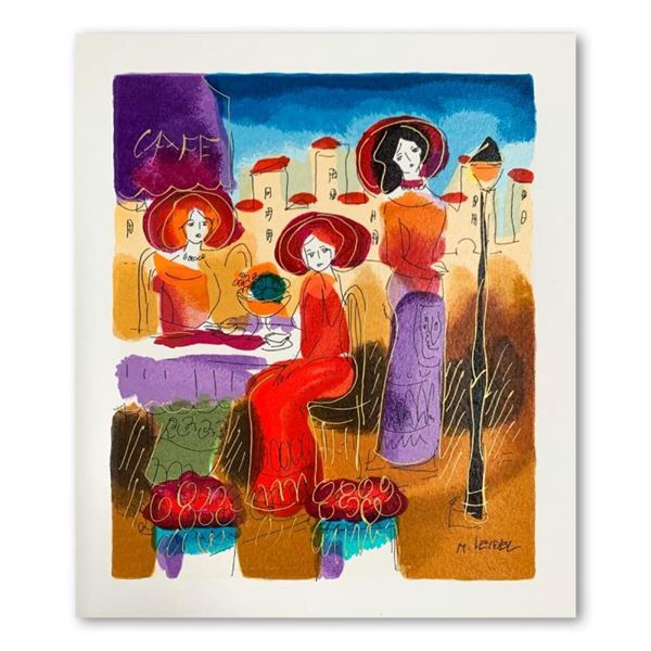 Moshe Leider, Hand Signed Limited Edition Serigraph on Paper with Letter of Auth