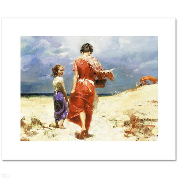 """""""Summer Retreat"""" Limited Edition Artist-Embellished Giclee on Canvas by Pino (19"""