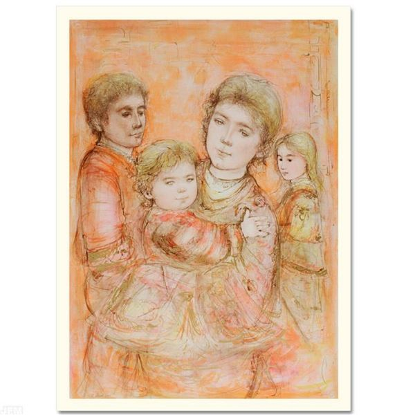 """""""Portrait of a Family"""" Limited Edition Lithograph by Edna Hibel (1917-2014), Num"""
