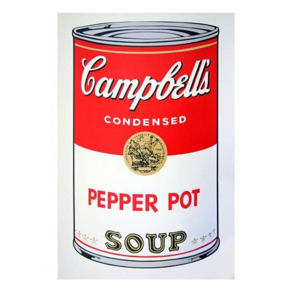 "Andy Warhol ""Soup Can 11.51 (Pepper Pot)"" Silk Screen Print from Sunday B Mornin"