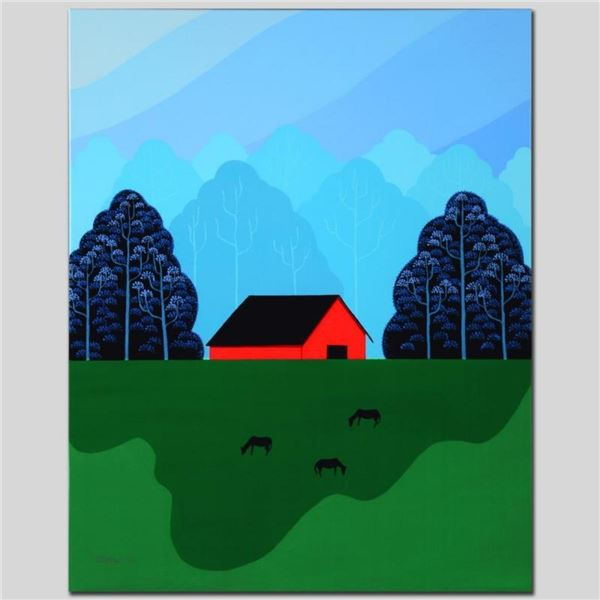 """""""New England Barn"""" Limited Edition Giclee on Canvas by Larissa Holt, Numbered an"""