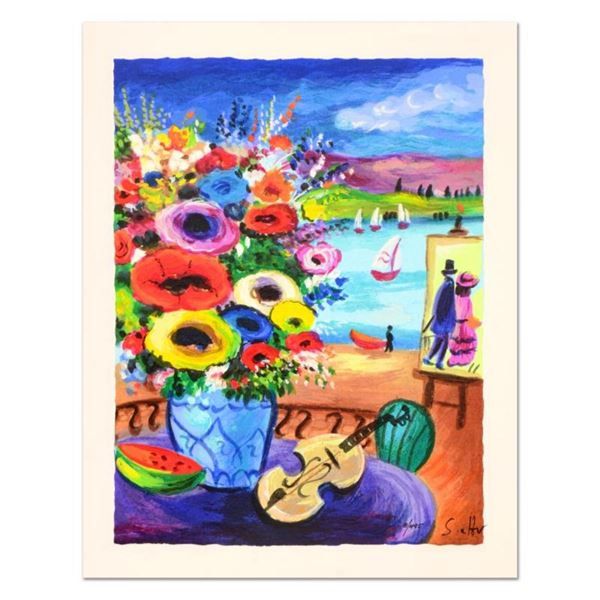 """Shlomo Alter, """"Still Life"""" Limited Edition Serigraph, Numbered and Hand Signed w"""