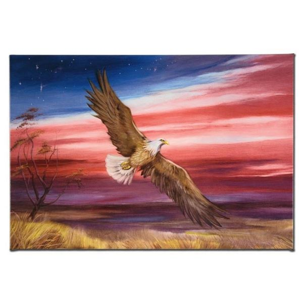 """""""Red White and Blue"""" Limited Edition Giclee on Canvas by Martin Katon, Numbered"""