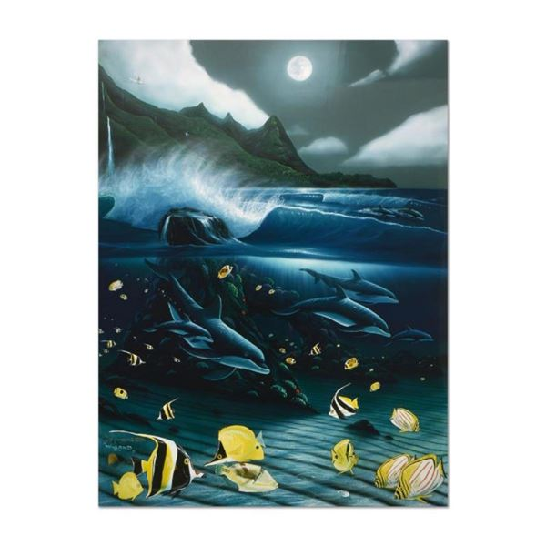 """Wyland, """"Hanalei Bay"""" Limited Edition Cibachrome, Numbered and Hand Signed with"""