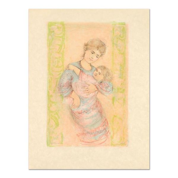 """Edna Hibel (1917-2014), """"Fair Alice and Baby"""" Limited Edition Lithograph on Rice"""