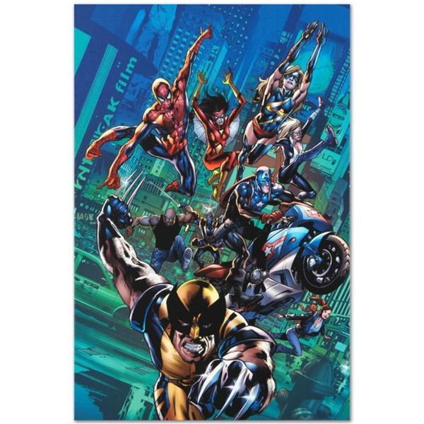 """Marvel Comics """"New Avengers Finale #1"""" Numbered Limited Edition Giclee on Canvas"""