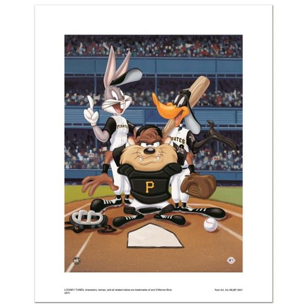 """""""At the Plate (Pirates)"""" Numbered Limited Edition Giclee from Warner Bros. with"""