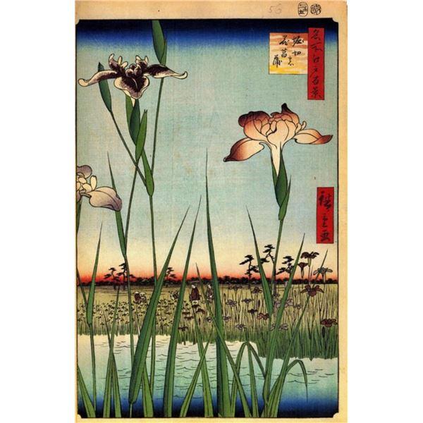 Hiroshige  - Iris Garden