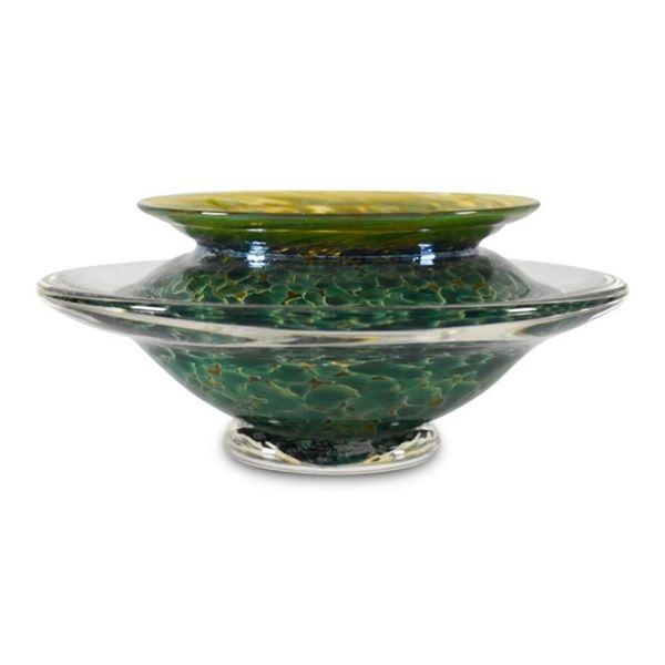 Large Ikebana Bowl by GartnerBlade Glass