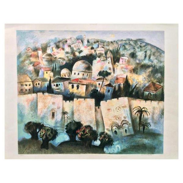 "Gregory Kohelet, ""Sunrise in Jerusalem"" Hand Signed Limited Edition Serigraph wi"