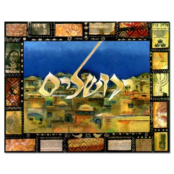 """Victor, """"Jerusalem"""" Hand Signed Limited Edition Serigraph with Letter of Authent"""