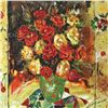 """Image 2 : Sergey Kovrigo, """"Red Bouquet"""" Hand Signed Limited Edition Serigraph with Letter"""