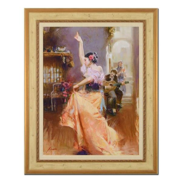 """Pino (1939-2010), """"Isabella"""" Framed Limited Edition Artist-Embellished Giclee on"""