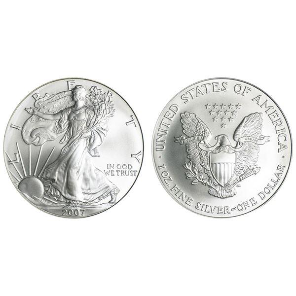2007 American Silver Eagle .999 Fine Silver Dollar Coin