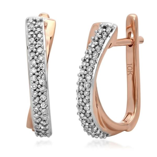 10k Gold 0.17CTW Diamond Earrings, (I1-I2/H-I)