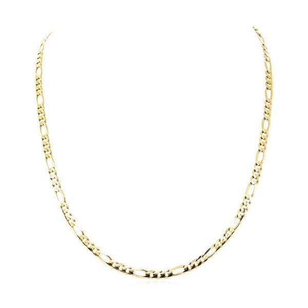 24 Inch Figaro Chain - 14KT Yellow Gold
