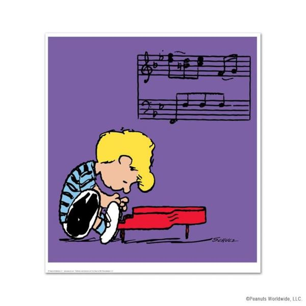 """Peanuts, """"Schroeder"""" Hand Numbered Limited Edition Fine Art Print with Certifica"""