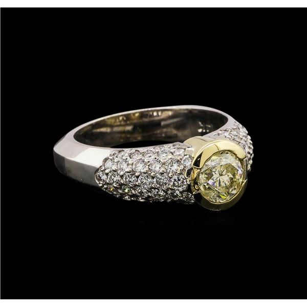 14KT Two-Tone Gold 1.58 ctw Diamond Ring