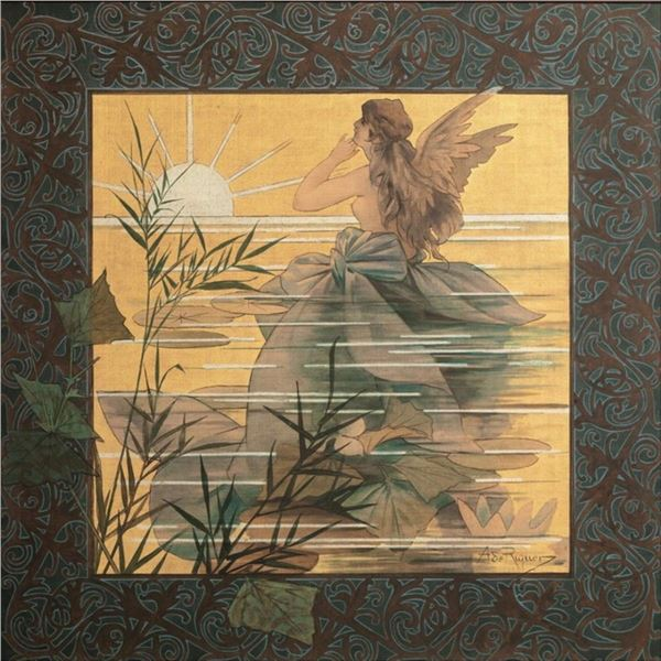 Alexandre de Riquer - Winged Nymph at Sunrise