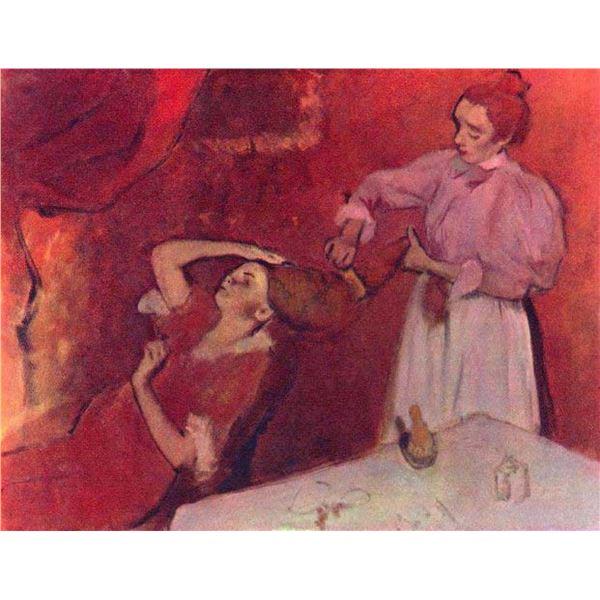 Edgar Degas - Combing Hair