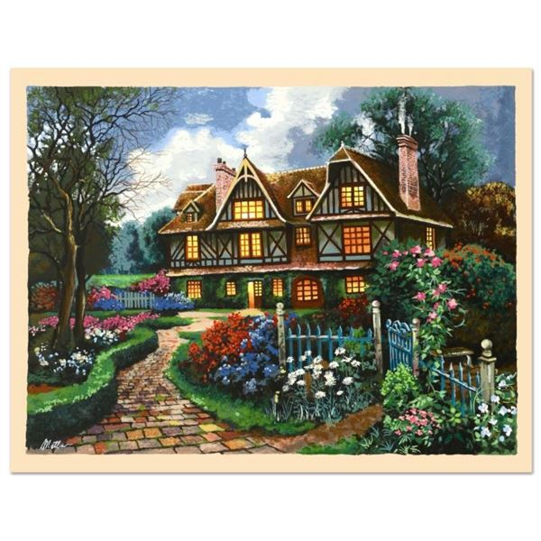 """Anatoly Metlan, """"Country Cottage"""" Limited Edition Serigraph, Numbered and Hand S"""