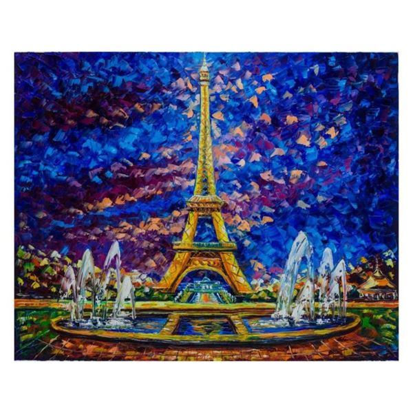 """Svyatoslav Shyrochuk, """"Paris View"""" Hand Signed Limited Edition Giclee on Canvas"""