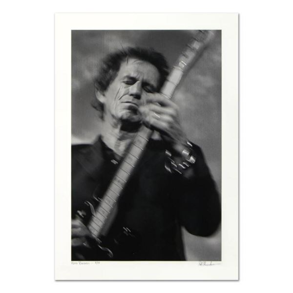 """Rob Shanahan, """"Keith Richards"""" Hand Signed Limited Edition Giclee with Certifica"""