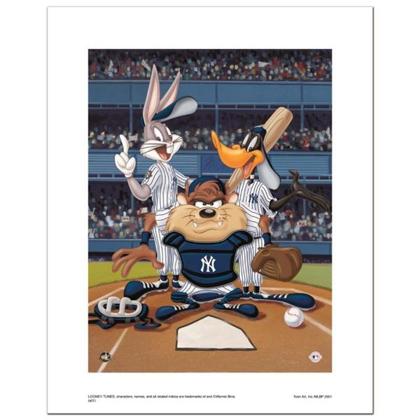 """""""At the Plate (Yankees)"""" Numbered Limited Edition Giclee from Warner Bros. with"""
