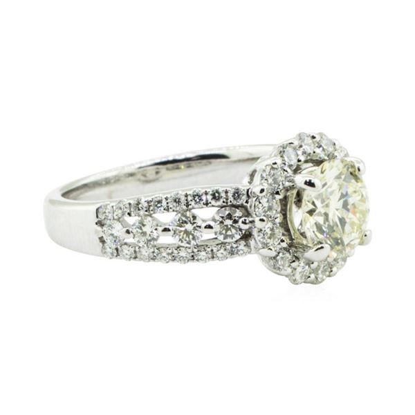 1.88 ctw Diamond Engagement Ring - 18KT White Gold