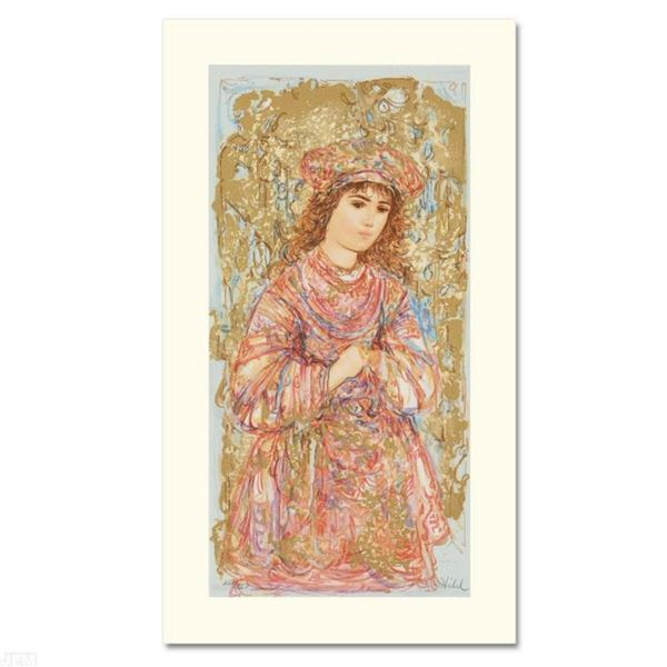 """""""Book of Hours I"""" Limited Edition Serigraph by Edna Hibel (1917-2014), Numbered"""