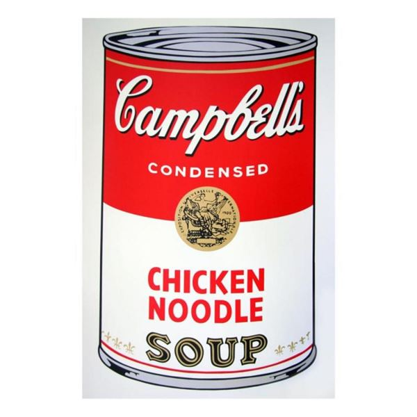 """Andy Warhol """"Soup Can 11.45 (Chicken Noodle)"""" Silk Screen Print from Sunday B Mo"""