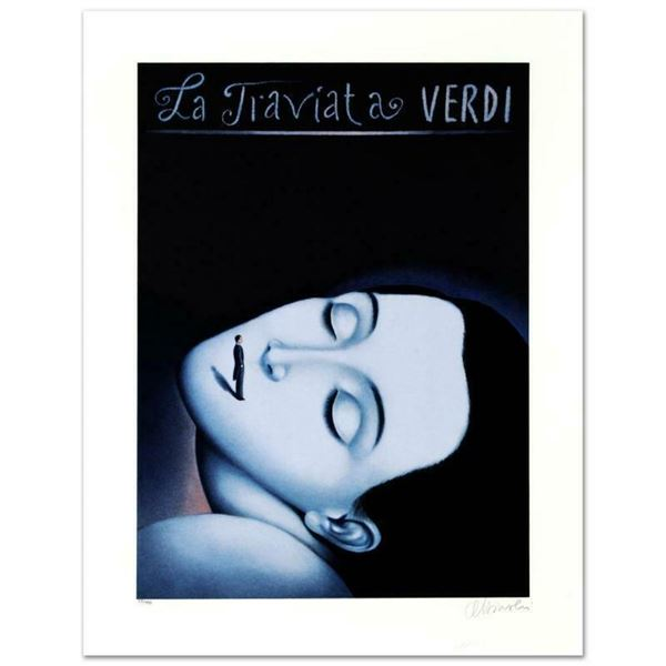 """""""La Traviata I"""" Limited Edition Lithograph by Rafal Olbinski, Numbered and Hand"""