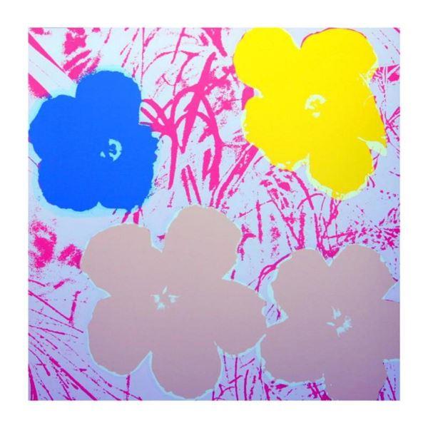 "Andy Warhol ""Flowers 11.70"" Silk Screen Print from Sunday B Morning."