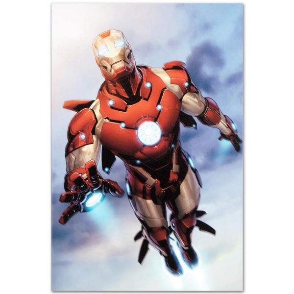 """Marvel Comics """"Invincible Iron Man #25"""" Numbered Limited Edition Giclee on Canva"""