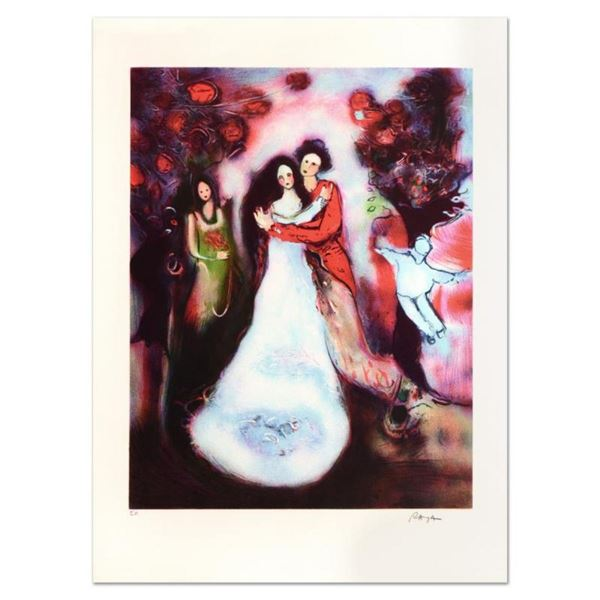 """Raya Sorkine, """"Le Mariage"""" Limited Edition Lithograph, Numbered and Hand Signed."""
