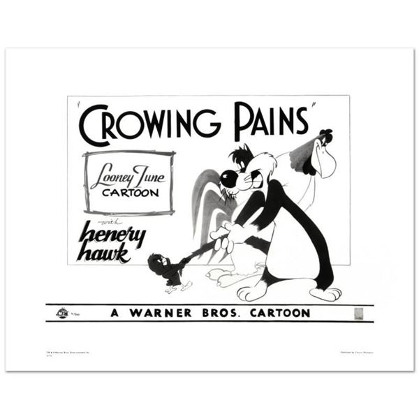 """""""Crowing Pains with Sylvester"""" Limited Edition Giclee from Warner Bros., Numbere"""