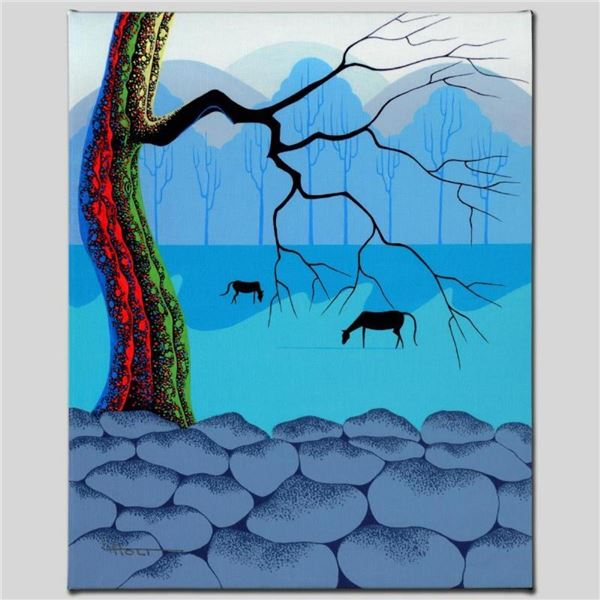 """""""Good Neighbors"""" Limited Edition Giclee on Canvas by Larissa Holt, Numbered and"""