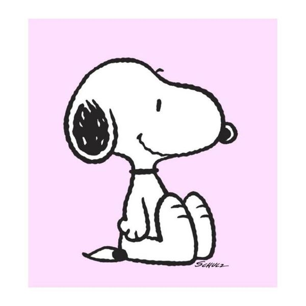 """Peanuts, """"Snoopy: Pink"""" Hand Numbered Canvas (40""""x44"""") Limited Edition Fine Art"""